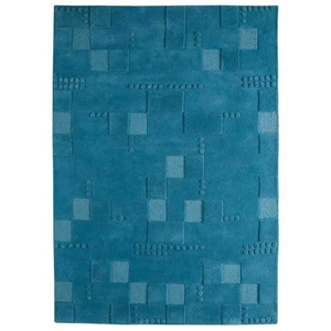 Ingrid Hand Tufted Wool Rug in Turquoise