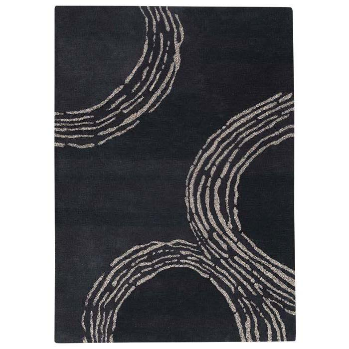 Kairos Hand Tufted Wool Rug in Charcoal