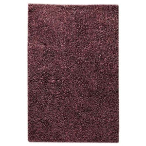 Lucetta Hand Woven Polyester Shaggy Rug in Purple