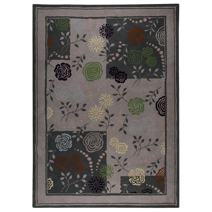 Millicent Hand Tufted Wool Rug in Grey
