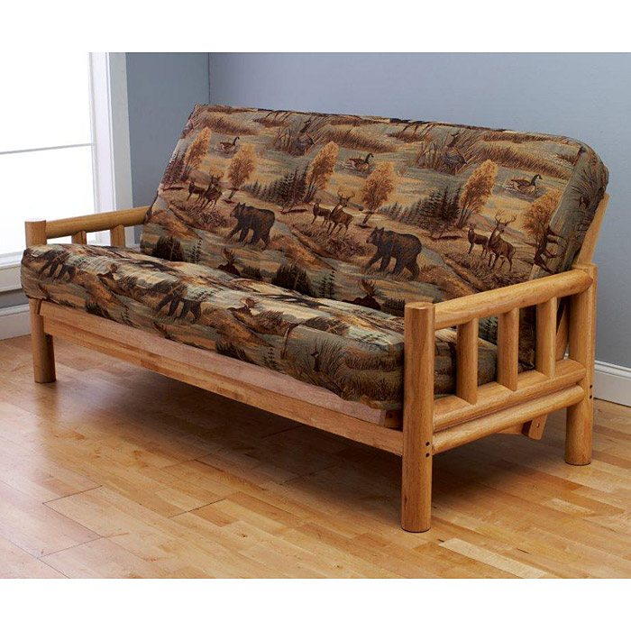 Lodge Full Size Wood Futon Frame - KDF-LDG-FL-FRM