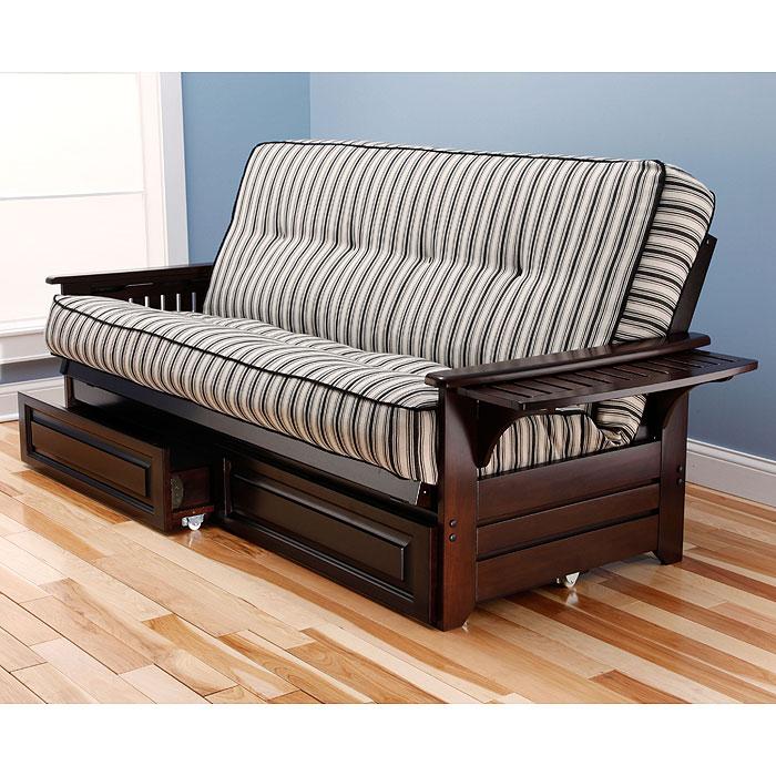 phoenix full size wood futon frame dcg stores