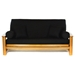 Black Full Size Futon Cover - LSC-A-BLACK