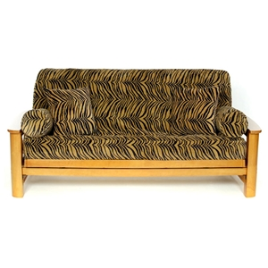 Tiger Futon Cover - Animal Print Futon Covers DCG Stores ~ Wildlife, Outdoor Scenery