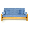 Washed Denim Futon Cover - Full Size - LSC-B-WASHED-DENIM