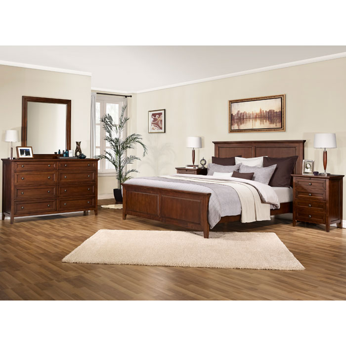 Asti 5 Piece Bedroom Set in Brandy - LSS-ABN-5X-BA-SET