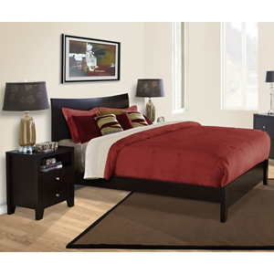 canova 3 piece bedroom set in cappuccino - 3 Piece Bedroom Furniture Set