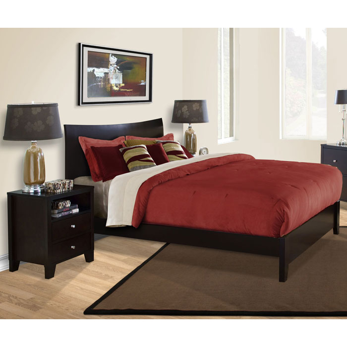 Lifestyle Solutions Bedroom Furniture: Canova 3 Piece Bedroom Set In Cappuccino