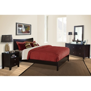 Canova 4 Piece Bedroom Set in Cappuccino