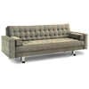 Rudolpho Fabric Convertible Sofa - Square Panel Tufting, Taupe - LSS-GA-RUP-TP-SET