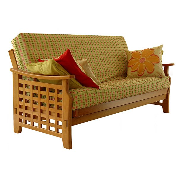 Manila Futon Set in Medium Oak