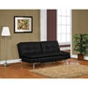 Matrix Double Cushion Leather Look Convertible Sofa - LSS-CAMDMS3L10