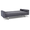 Rudolpho Charcoal Tufted Fabric Sofa Bed - LSS-GARUPS3M3CC-GARUPA3M3CC