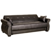 Avanzo Leather Convertible Sofa - Rolled Arms, Nail Heads, Java - LSS-SA-AVO-JB-SET