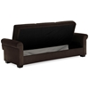 Thomas Fabric Convertible Sofa - Storage, Java - LSS-SA-TMS-JV-SET