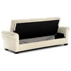 Thomas Fabric Convertible Sofa - Storage, Light Brown - LSS-SA-TMS-LB-SET