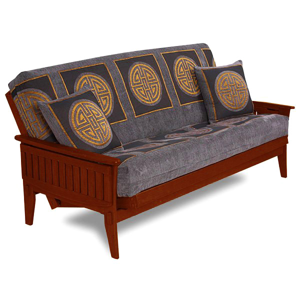 Santa Cruz Futon Set in Dark Cherry