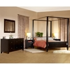 Wilshire 5 Piece Canopy Bedroom Set in Cappuccino - LSS-WSR-5X-CP-SET