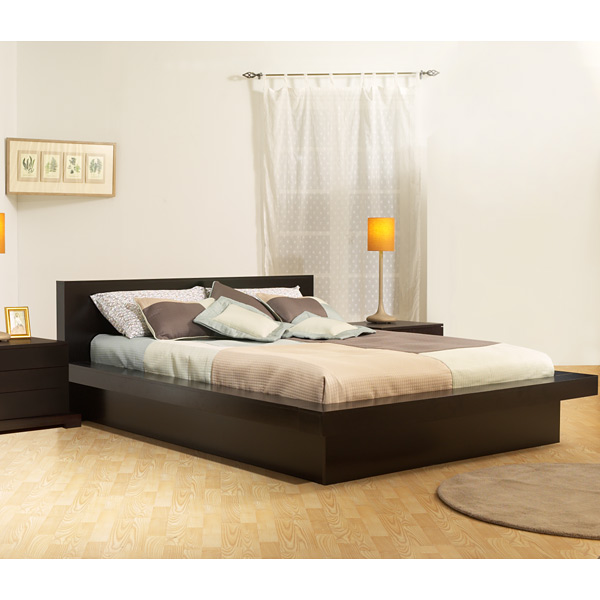 Zurich platform bed cappuccino dcg stores for Bedroom furniture zurich