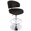 Regent Adjustable Swivel Bar Stool - Chrome, Padded Seat - LMS-HJ-REGENT-XX