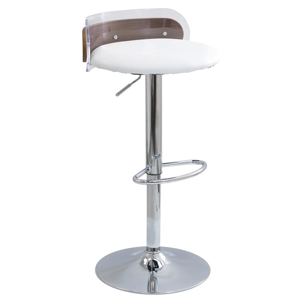 Arc Adjustable Barstool White Dcg Stores