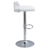 Arctic Adjustable Barstool - White - LMS-BS-ARCTIC-CL-W