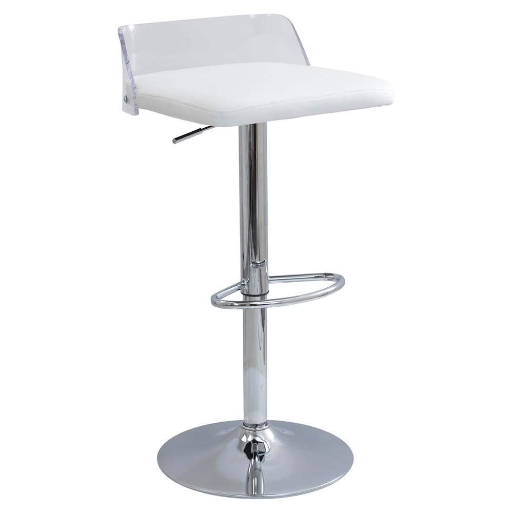 Arctic Adjustable Barstool White Dcg Stores