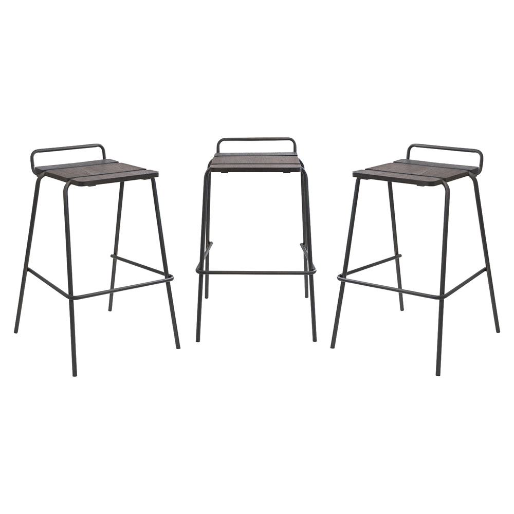 Stackable Blake Barstool Walnut Set Of 3 Dcg Stores