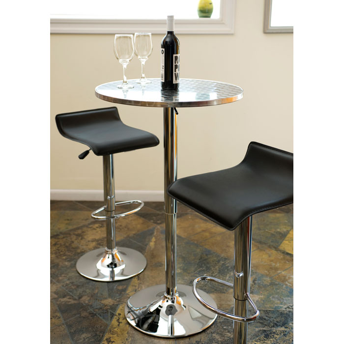 Ale Adjustable Height Bar Stool Black Seat Dcg Stores