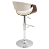 Curvo Height Adjustable Barstool - Swivel, Cream - LMS-BS-CURVO-WL-CR