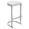 Demi Backless Barstool - White (Set of 2) - LMS-BS-DEMI-W2