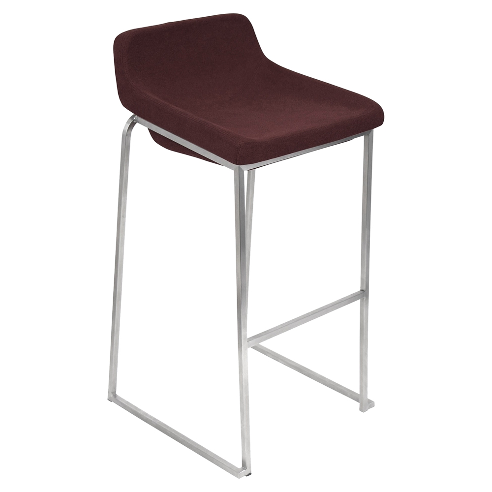 Drop In Stackable Barstool Burgundy Set Of 2 Dcg Stores