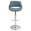 Fabrizzi Height Adjustable Barstool - Swivel, Blue - LMS-BS-FBZZ-WL-BU