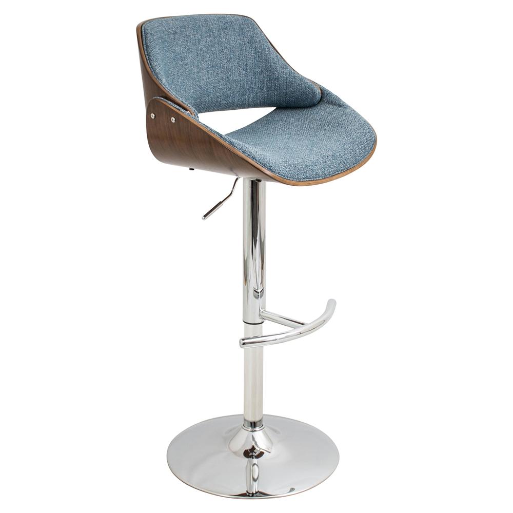 Fabrizzi Height Adjustable Barstool Swivel Blue Dcg