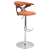 Gardenia Height Adjustable Barstool - Swivel, Orange - LMS-BS-GARD-WL-O