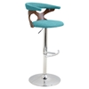 Gardenia Height Adjustable Barstool - Swivel, Teal - LMS-BS-GARD-WL-TL