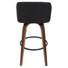 Bruno Swivel Barstool - Black, Walnut - LMS-BS-JY-BRN-WL-BK