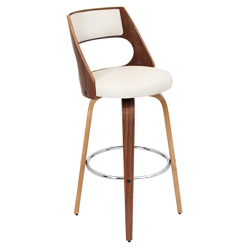 Cecina Swivel Barstool Cream Walnut Dcg Stores