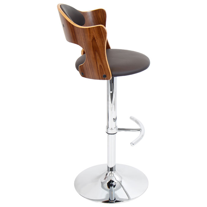 Cello Adjustable Height Bar Stool Walnut Amp Brown Dcg