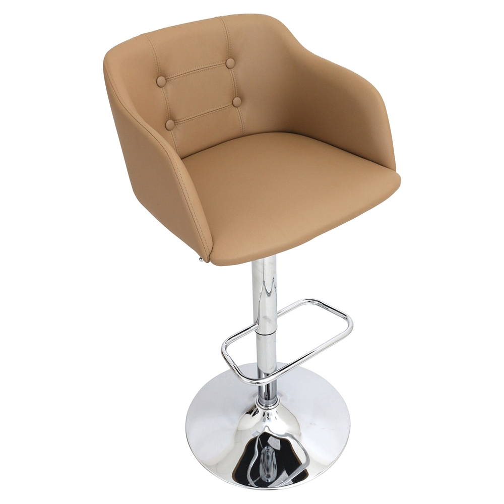 Campania Height Adjustable Barstool Swivel Camel Dcg Stores