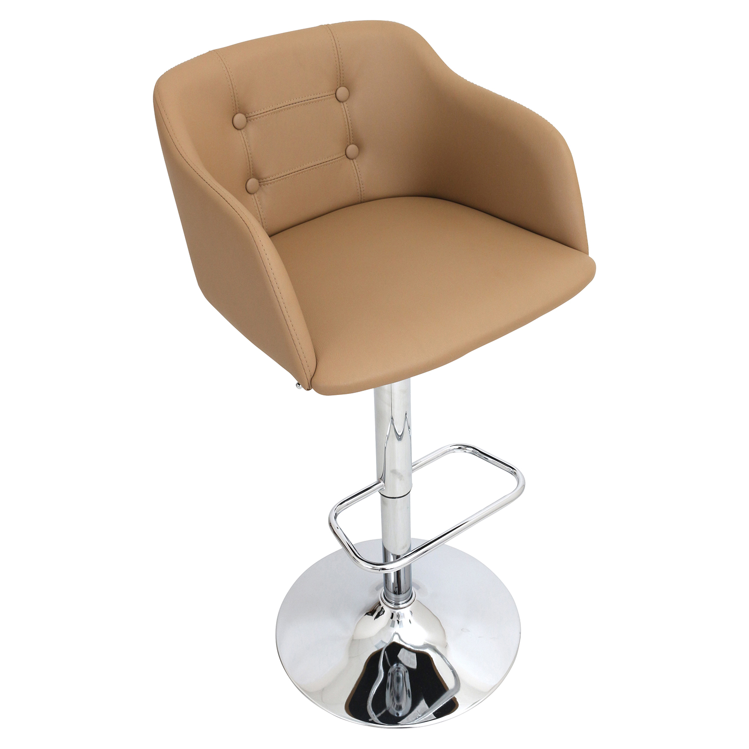Campania Height Adjustable Barstool Swivel Camel Dcg