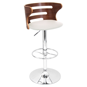 Cosi Height Adjustable Barstool - Swivel, Cream