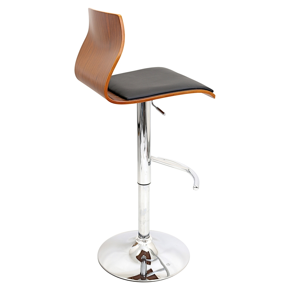 Ella Height Adjustable Barstool Swivel Black Dcg Stores