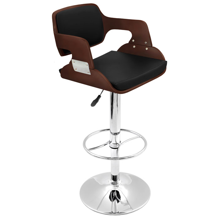 Fiore Wood and Chrome Bar Stool - LMS-BS-JY-FR