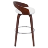 Grotto Swivel Barstool - White, Cherry - LMS-BS-JY-GRT-CH-W