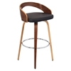 Grotto Swivel Barstool - Brown, Walnut - LMS-BS-JY-GRT-WL-BN