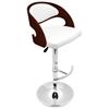 Pino Adjustable Swivel Bar Stool - Wood, Chrome, Leatherette - LMS-BS-JY-PN