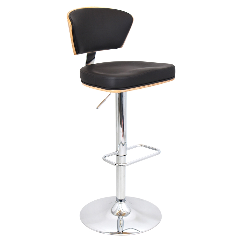 Ravinia Height Adjustable Barstool Swivel Bamboo Espresso Dcg Stores
