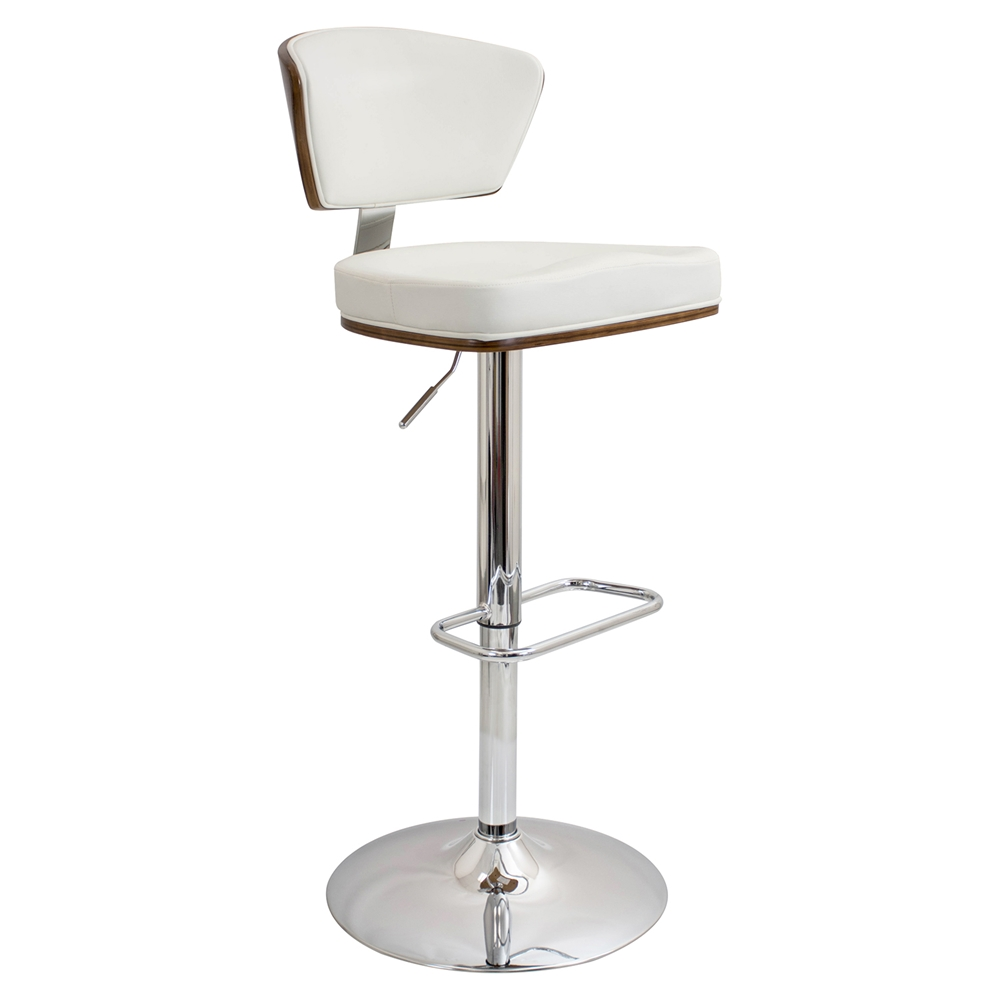 Ravinia Height Adjustable Barstool Swivel Walnut White Dcg Stores