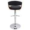 Scucci Height Adjustable Barstool - Swivel, Walnut, Black - LMS-BS-JY-SCC-WL-BK